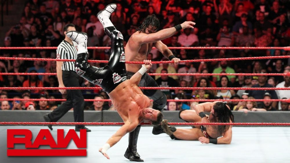 Photo of Seth Rollins vs. Dolph Ziggler & Drew McIntyre – 1-on-2 Handicap Match: Raw, Aug. 6, 2018