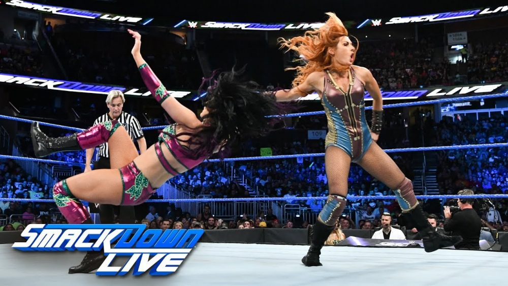 Photo of Charlotte Flair & Becky Lynch vs. The IIconics: SmackDown LIVE, Aug. 7. 2018